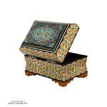 Khatam Box Eslimi Design with Velvet Dressing - Small