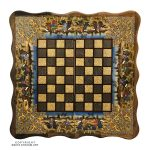 Khatam Chessboard & Backgammon Box with Eslimi Polo Miniature Design