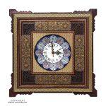 Premium Quality Khatam & Minakari Wall Clock - 20 cm